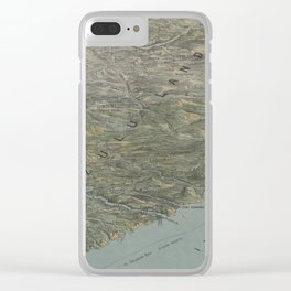 Vintage Pictorial Map of South Africa (1879) Clear iPhone Case