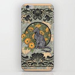 Cat Nouveau iPhone Skin