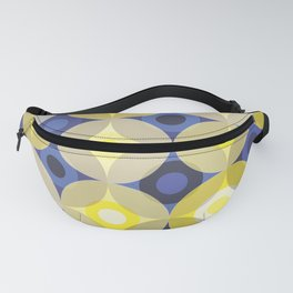 Yellow and Blue Circles Fanny Pack