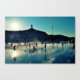"""Bordeaux """"Miroir d'eau"""" Canvas Print"""