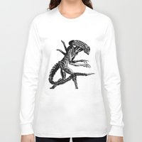 xenomorph Long Sleeve T-shirts featuring Xenomorph by Carla Beltra