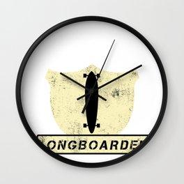 Long Boarding Long  Boarder  Skateboard Surf Gift  Wall Clock