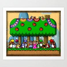 Super Mario World Happy Ending Art Print