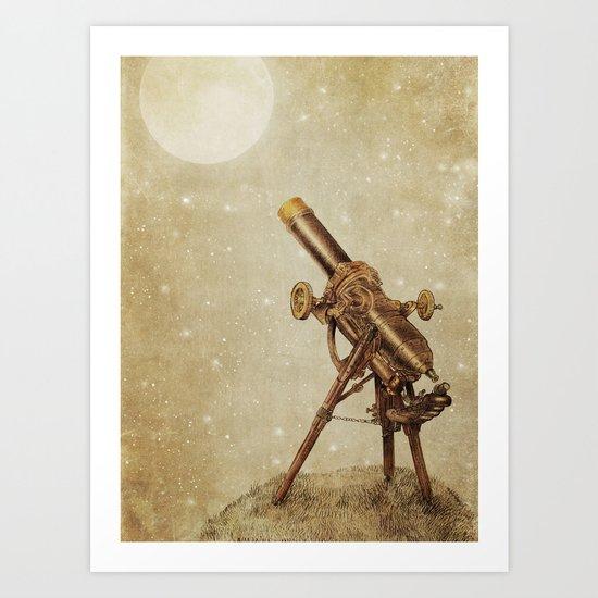 Moonrise (sepia option) Art Print