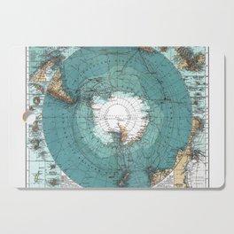 Antarctica Vintage map Cutting Board
