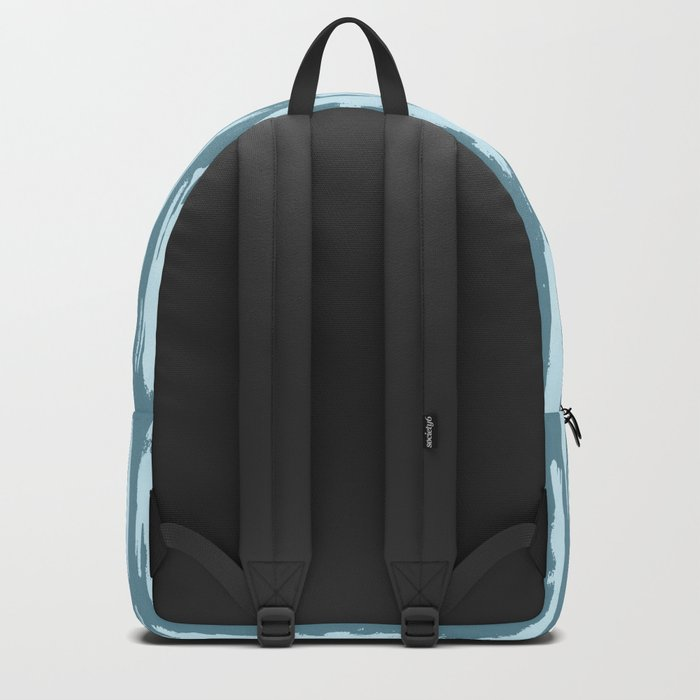 Vertical Dash Turquoise on Teal Blue Backpack