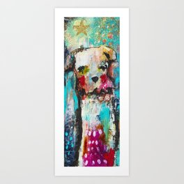 Downward dog Art Print