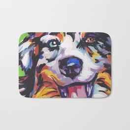 Fun AUSTRALIAN SHEPHERD Dog bright colorful Pop Art Bath Mat