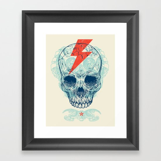 Skull Bolt Framed Art Print
