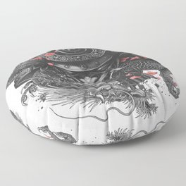 Sleeve tattoo Samurai Irezumi Floor Pillow