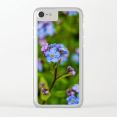Forget-me-nots In The Rain Clear iPhone Case