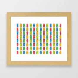 Rainbow Gummy Bears Framed Art Print