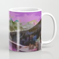 river Mugs featuring River by Asya Solo