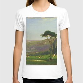 Classical Masterpiece 'Lake Albano, Italy' by George Inness T-shirt