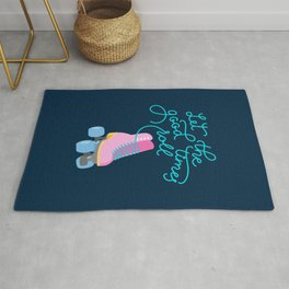 Let the Good Times Roll (Navy Background) Rug