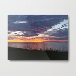 Painted Skies at Sunset Metal Print