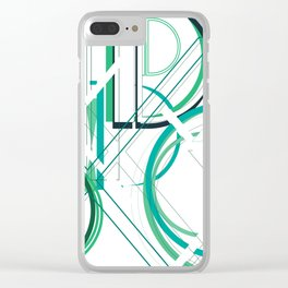 Deco D Clear iPhone Case
