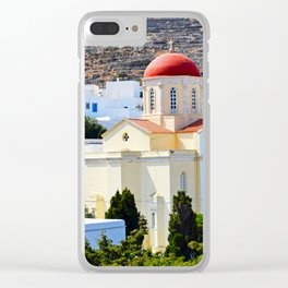 Pyrgos Orthodox church Clear iPhone Case