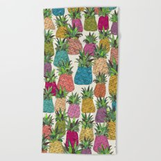 West Coast pineapples Beach Towel
