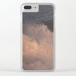 Rolling Waves Clear iPhone Case