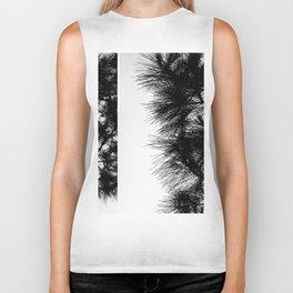Mediterranean black and white pine tree Biker Tank