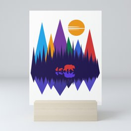 Bear & Cubs #4 Mini Art Print