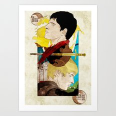 The King and His Sorceror Art Print