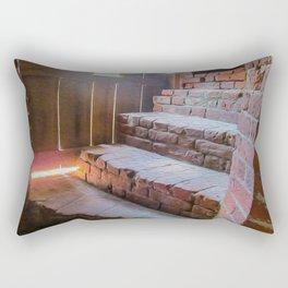 Climb the Steps of Time Rectangular Pillow