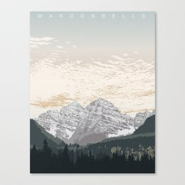 Maroon Bells Canvas Print