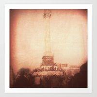 bastille Art Prints featuring Bastille by Elliott Riot