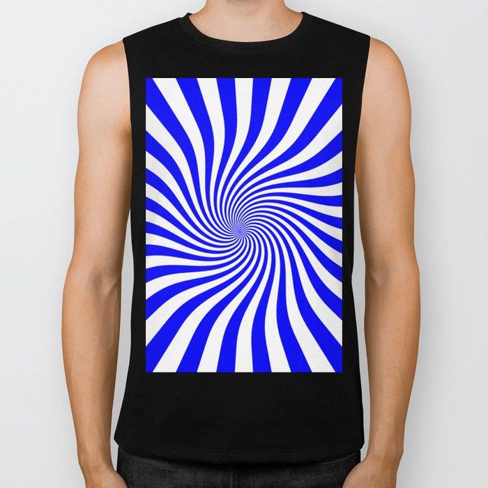 Swirl (Blue/White) Biker Tank