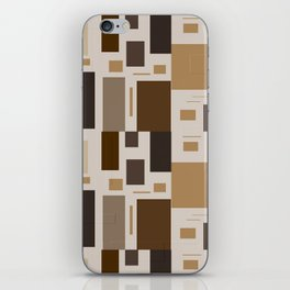 Shades Of Brown Squares iPhone Skin