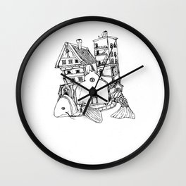 Home On A Fish Wall Clock