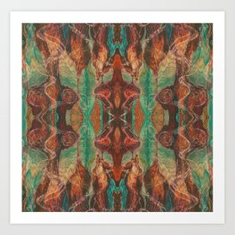 Ecstatic Pelvis (Meat Flame) (Reflected) Art Print