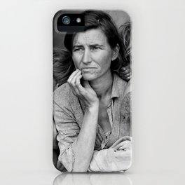 Migrant Mother by Dorothea Lange - The Great Depression Photo iPhone Case