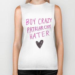 Boy Crazy Patriarchy Hater Biker Tank