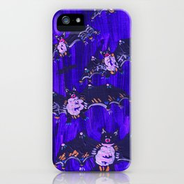 Blue Midnight Bats iPhone Case