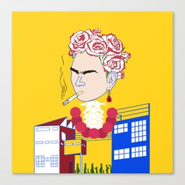 Abstract Frida Kahlo Canvas Print