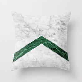 Arrows - White Marble & Green Granite #849 Throw Pillow