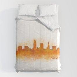 Cleveland City Skyline Hq V3 Comforters