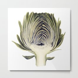 Sliced Artichoke Metal Print