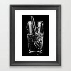 Glass and Spoon Framed Art Print