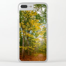 October Forest (2) Clear iPhone Case