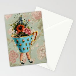 Tea Cup Legs Stationery Cards