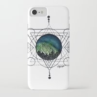northern lights iPhone & iPod Cases featuring Northern Lights by HaleySayersArt