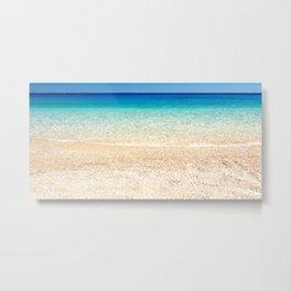 Aqua Water Beach Metal Print