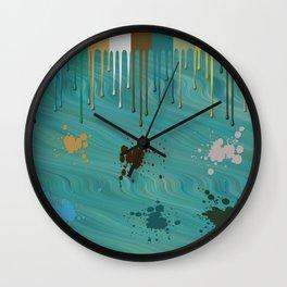 Messy Painter Wall Clock