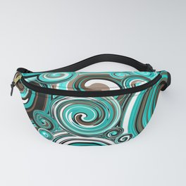 Water Whirlwind Abstract Fanny Pack