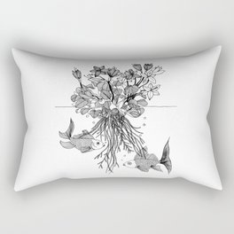 Waterlilies and goldfishes Rectangular Pillow