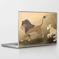 lions Laptop & iPad Skins featuring Running lions by Drawing For Hope